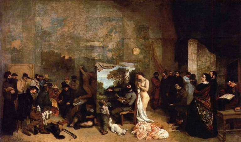 Gustave Courbet - The Studio of the Painter