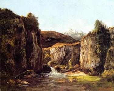 Logos-Gustave-Courbet-Paysage-La-Source-parmi-les-rochers-du-Doubs-1871
