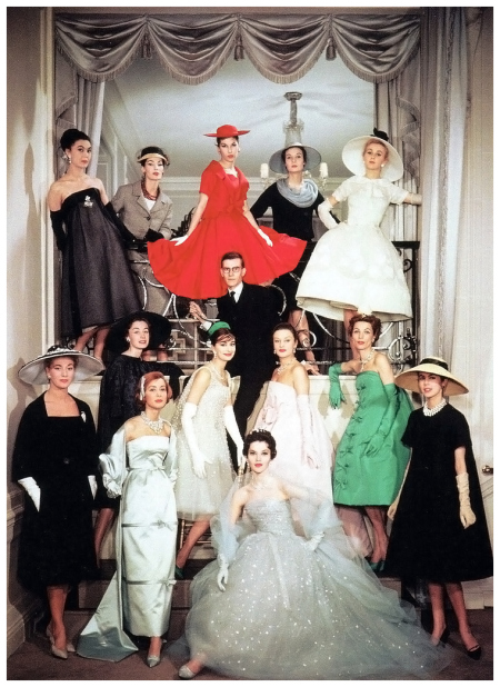 yves-saint-laurent-and-the-house-models-of-maison-dior-christian-dior-spring-1958-couture