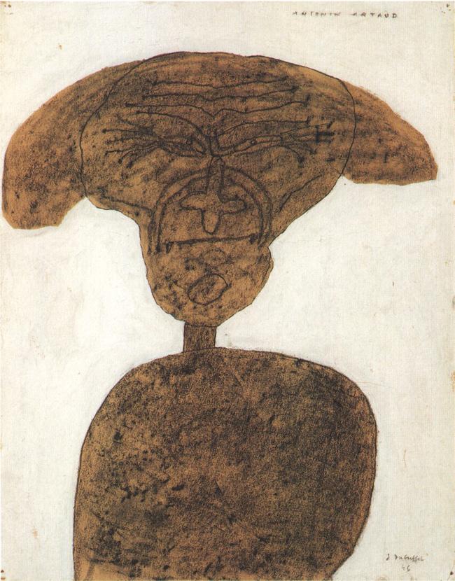 01-Jean-Dubuffet--Portrait-d-Antonin-Artaud-cheveux-epanouis-(1946)