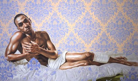 Kehinde-WILEY-Untitled-Down-Study-with-Bullet_2