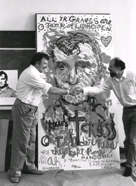 1982, With Alan Ginsberg and the painting they made together, New York