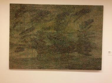 """""""Rosa dos ventos"""", 1990, huile sur toile."""