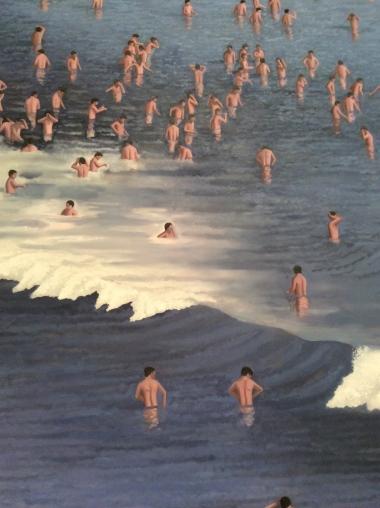 """""""Waterworld"""", 2015 , Huile sur toile, 406 x 295 cm. Courtesy Galerie Bucholz Berlin/Cologne"""