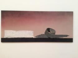 """""""Psycho spaghetti Western #8"""", 2010 Acrylique et huile de moteur usagée sur toile 280 x 122 cm Courtesy de l'artiste Collection Rachel et Jimmy Levin, New York"""