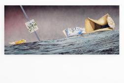 """Psycho Spaghetti Western 11"", 2011 Huile sur toile 198 x 84 cm Courtesy Julie and Edward J. Minskoff"