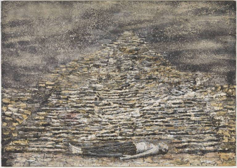 Man under a Pyramid 1996 Anselm Kiefer born 1945 ARTIST ROOMS Acquired jointly with the National Galleries of Scotland through The d'Offay Donation with assistance from the National Heritage Memorial Fund and the Art Fund 2008 http://www.tate.org.uk/art/work/AR00037