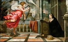 """Titien, """"L'annonciation"""" 1559-1564"""