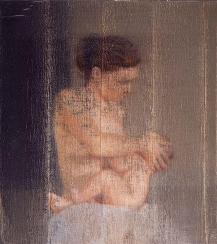 Gerhard+Richter,+S.+avec+enfant,+1995,+huile+sur+toile,+52x62cm