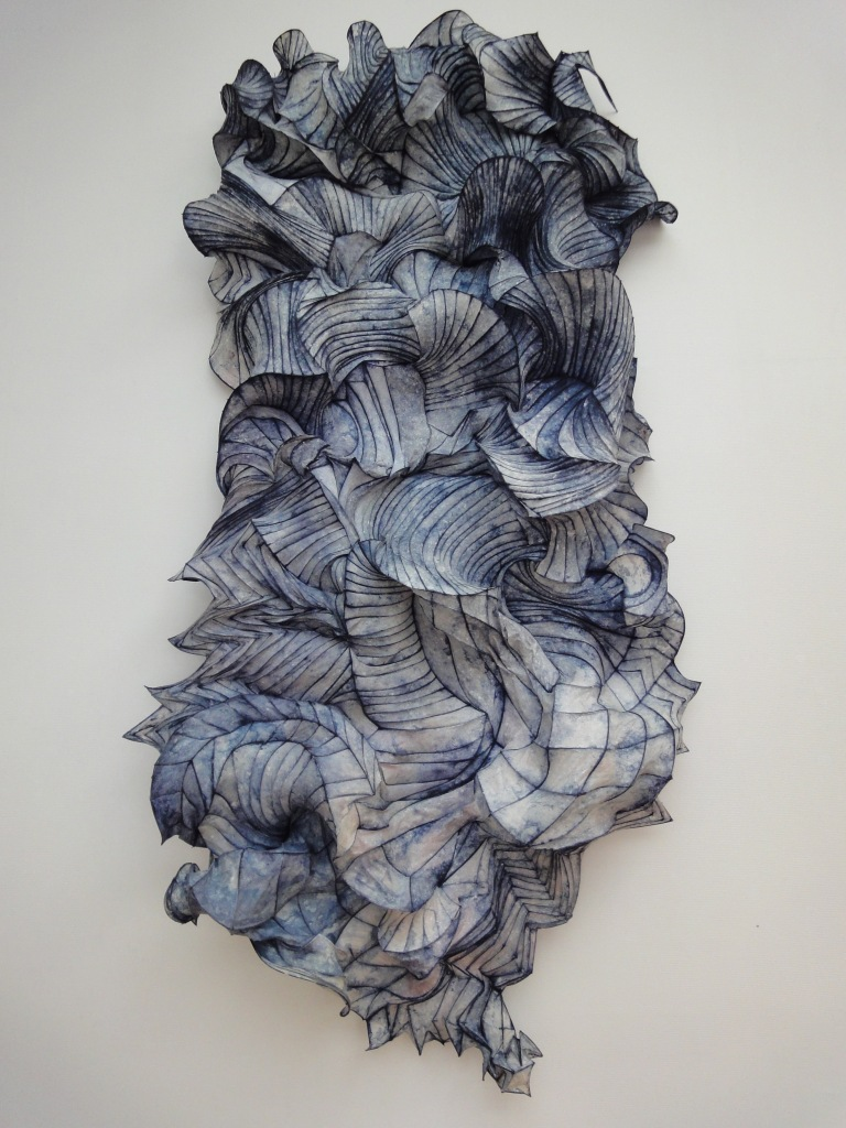 Blue Waves (at Pulchri) 310 x 160 cm linen and bamboo 2011