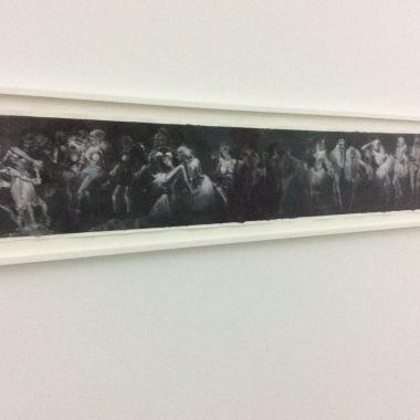 """""""Lamortlaviedanse"""", 2015, 30x157 cm"""