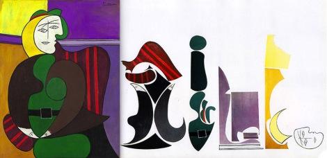 Ursus-Wehrli-Pablo-Picasso-Le-Fauteuil-Rouge-MJ-MEDIA