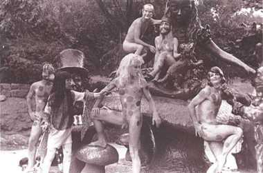 "Yayoi Kusama, ""Alice in Wonderland Happening"", Central Park, New York, 1968."