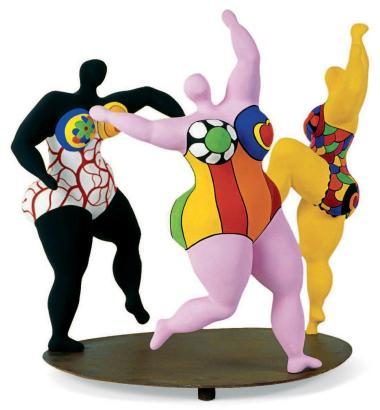 """Niki de Saint-Phalle, """"Les trois grâces"""", 1999"""