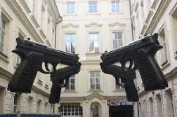 """David Cerny, """"Guns"""""""