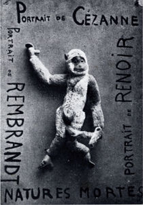 """Francis Picabia, """"Portrait de ..."""", 1920. (peluche sur bois)."""