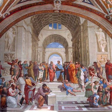 "Raphael, ""The School of Athens"", env.1509"