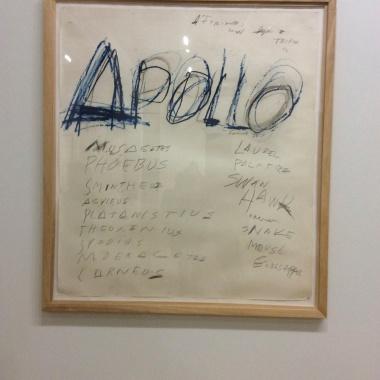 "Twombly, ""Apollo"", 1975"