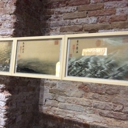 Ma Yuan, 12 images of water surging, (20x35cm each)2017