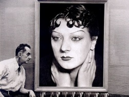 Man Ray devant son portrait de Kiki, Photo by Michel Sima, 1954