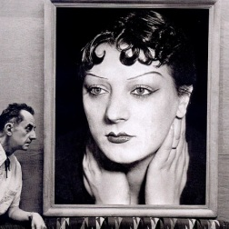 Man Ray devant son portrait de Kiki, Photo by Michel Sima, 1954