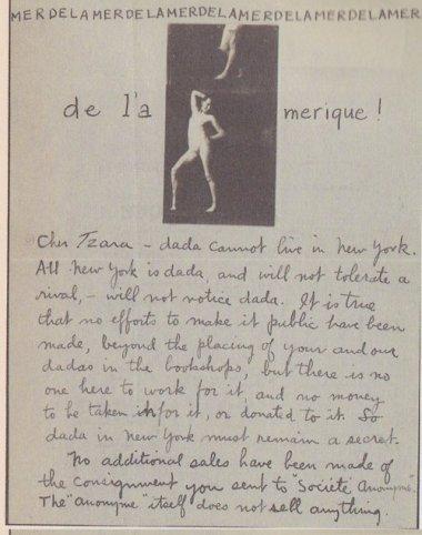 Bibliothèque Doucet, fonds Tristan Tzara, Paris.