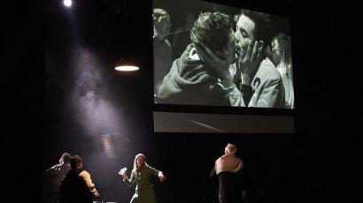 La vidéo directe dans le théâtre de Milo Rau.Photo© Christophe Raynaud de Lage.