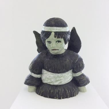 L'Ange Noir, 2013 (terre cuite émaillée)