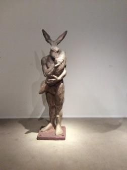 Zaric, «HomLièvre au poisson», 2011 © Galerie Univers