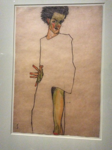 Schiele, autoportrait, 1910