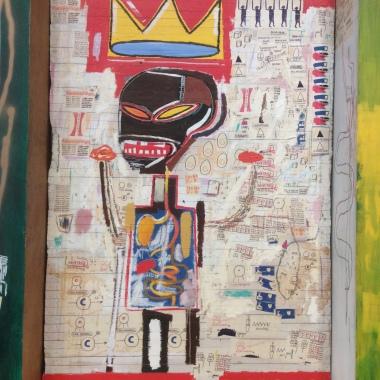 """Basquiat, détail du polyptique """"Grillo"""", 1984"""