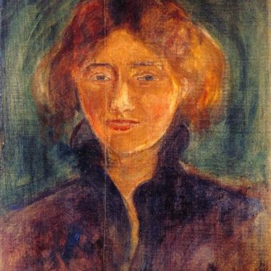 """E.Munch, """"Tulla Larsen"""", 1898"""