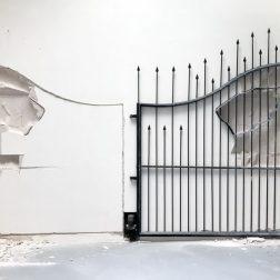 shilpa-gupta-metal-gate-venice-art-biennale-designboom-3-818x589