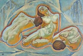 Koloman Moser, Trois Femmes, 1914