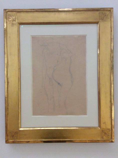 """G.Klimt, """"femme enceinte et homme, vers 1902"""