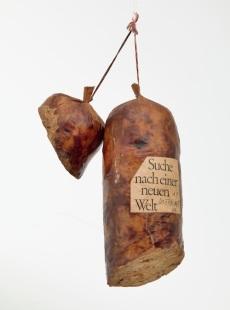 Dieter Roth, Literature Sausage (Literaturwurst), 1969, artist's book of ground copy of Halbzeit by Martin Walser (gelatin, lard, and spices in natural casing)