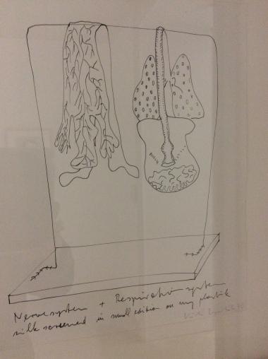 Kiki Kogelnik, système squelettique, 1970